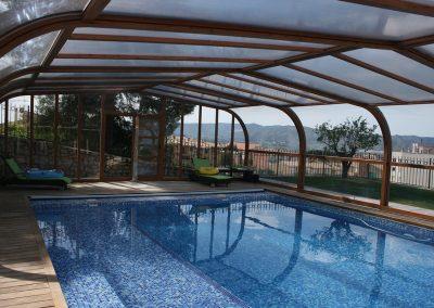 Cubiertas telescopiacas para piscinas